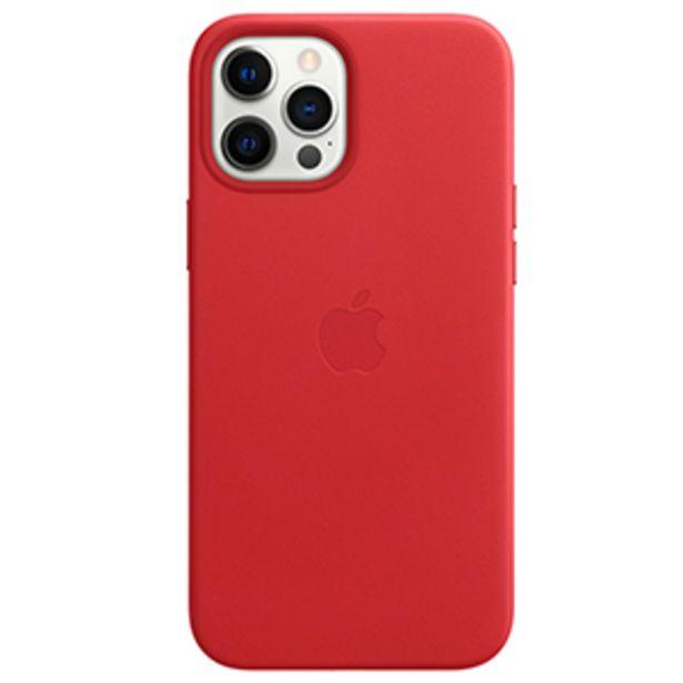Oferta de Funda Apple iPhone 12 Pro Max Leather MagSafe (PRODUCT)RED por $849