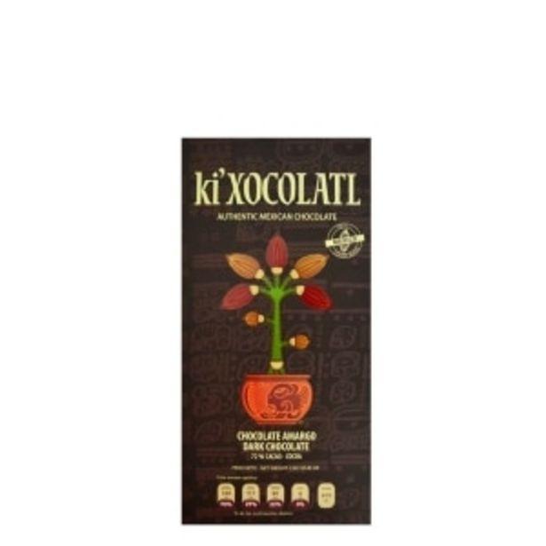 Oferta de BARRA DE CHOCOLATE KI'XOCOLATL NEGRO 80GR por $80