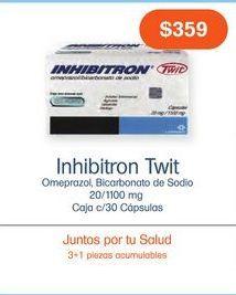Oferta de INHIBITRON TWIT 20/1100MG CAP CAJ C/30 por $359
