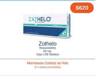 Oferta de ZATHELO 20 mg CAJ TAB C/30 por $620