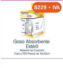 Oferta de GASA ESTERIL LEROY 10X10cm EXH/100SOBRES por $229