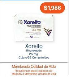 Oferta de XARELTO 2.5MG COM CAJ C/56 por $1986