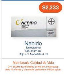 Oferta de NEBIDO IM 4ML AMP CAJ C/1 por $2333