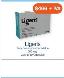 Oferta de LIGERIS 500mg CAP CAJ C/ 30 por $466