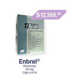 Oferta de ENBREL 25MG F A CAJ C/4 por $12188