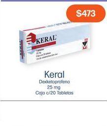 Oferta de KERAL 25 mg TAB CAJ C/20 por $473
