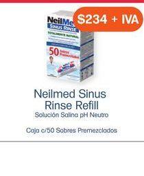 Oferta de NEILMED SINUS RINSE REFIL CAJ C/50 SOB PREMEZCLADOS por $234