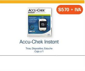 Oferta de ACCU-CHEK INSTANT+TIRAS+DISP+ESTUCHE CAJ C/1 por $570