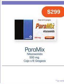 Oferta de PARAMIX 500MG GRA CAJ C/6 por $299