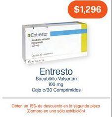Oferta de ENTRESTO 100MG COM CAJ C/60 por $1296