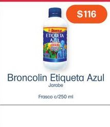 Oferta de BRONCOLIN JBE FCO C/250ML por $116