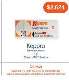 Oferta de KEPPRA 1GR TAB CAJ C/30 por $2624