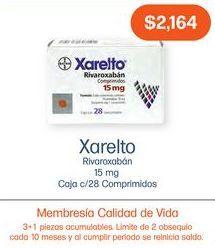 Oferta de XARELTO 15MG COM CAJ C/28 por $2164