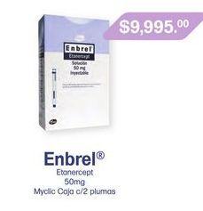 Oferta de ENBREL 50MG MYCLIC PLUMA CAJ C/2 por $9995