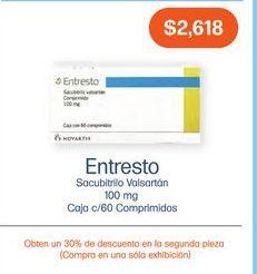 Oferta de ENTRESTO 100MG COM CAJ C/60 por $2618