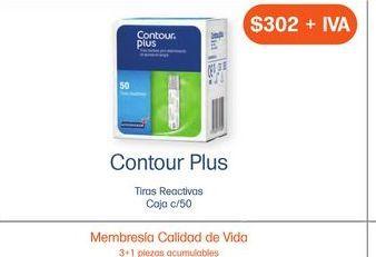 Oferta de CONTOUR PLUS TIRAS REACTIVAS CAJ C/50 por $302