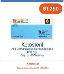 Oferta de KETOSTERIL 630 g TAB CAJ C/100 por $1250