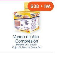 Oferta de VENDA ELASTOMEDIC -ALTA COMP.- 5cmX5m por $38