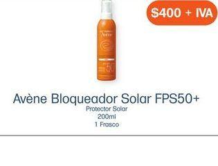 Oferta de AVENE BLOQ SOLAR FPS50SP SPR C/200ML por $400