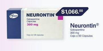 Oferta de NEURONTIN 300MG CAP CAJ C/30 por $1066