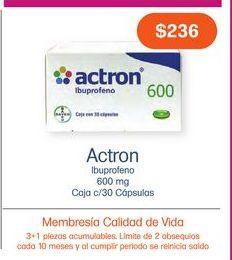 Oferta de ACTRON 600MG CAP CAJ C/30 por $236