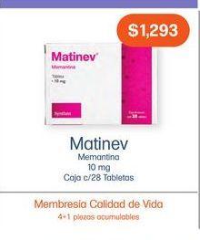 Oferta de MATINEV 10 mg TAB CAJ C/28 por $1293