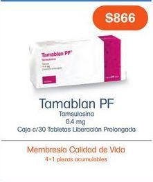 Oferta de TAMABLAN PF LP 0.4 mg TAB CAJ C/30 por $866