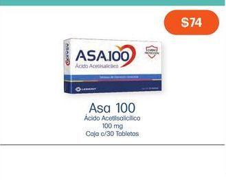 Oferta de ASA 100 TAB CAJ C/30 por $74
