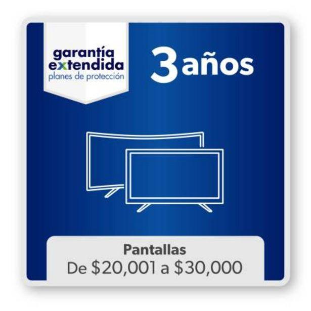 Oferta de Plan Garantía Extendida Pantallas Vigencia de 3 Años Artículos de 20 mil a 30 mil Pesos por $1738.07