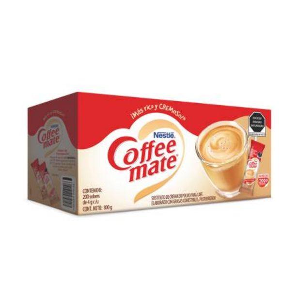 Oferta de Sustituto de Crema Coffee Mate Nestlé 200 pzas de 4 g por $117