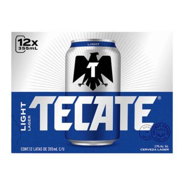 Oferta de Cerveza Clara Tecate Light 12 Latas de 355 ml c/u por $184.14