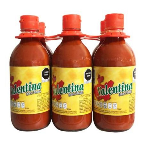 Oferta de Salsa Picante Valentina 6 pzas de 350 ml c/u por $57.28