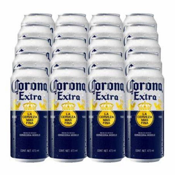 Oferta de Cerveza Clara Corona Extra 24 Latones de 473 ml por $417.37
