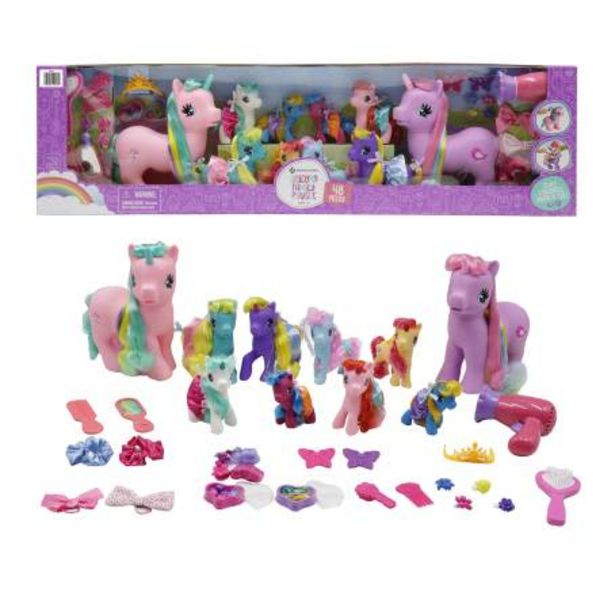 Oferta de Set Familia de Unicornios Wonder Pony Land con 48 pzas por $561.61