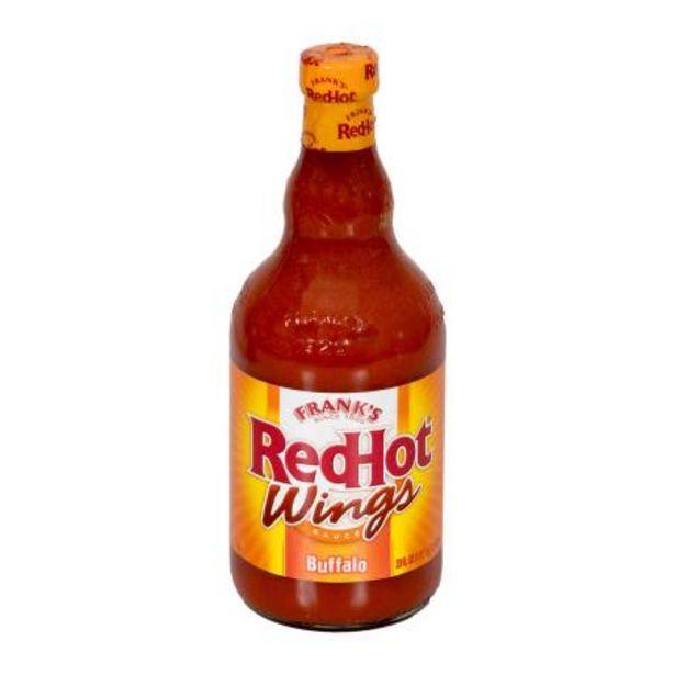 Oferta de Salsa Picante para Alitas Frank's Red Hot Wings Buffalo 680 g por $75.7