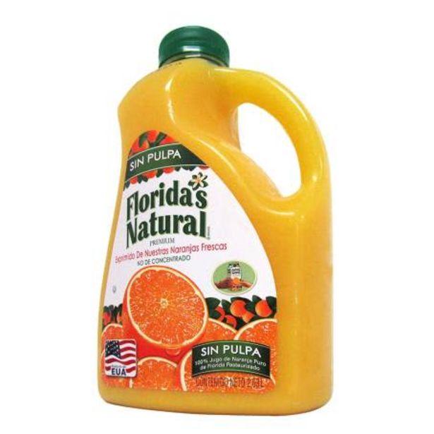 Oferta de Jugo de Naranja Floridas Natural sin Pulpa 2.63 L por $142.19