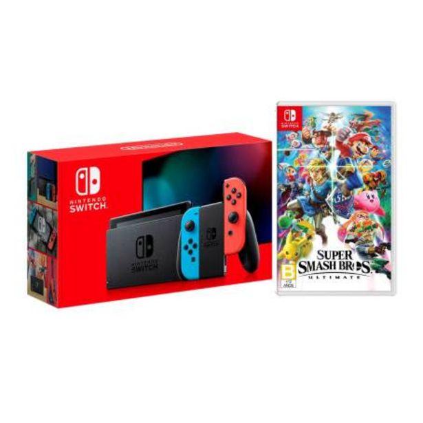 Oferta de Consola Nintendo Switch Neon 1.1 + Super Smash Bros Ultimate por $8199