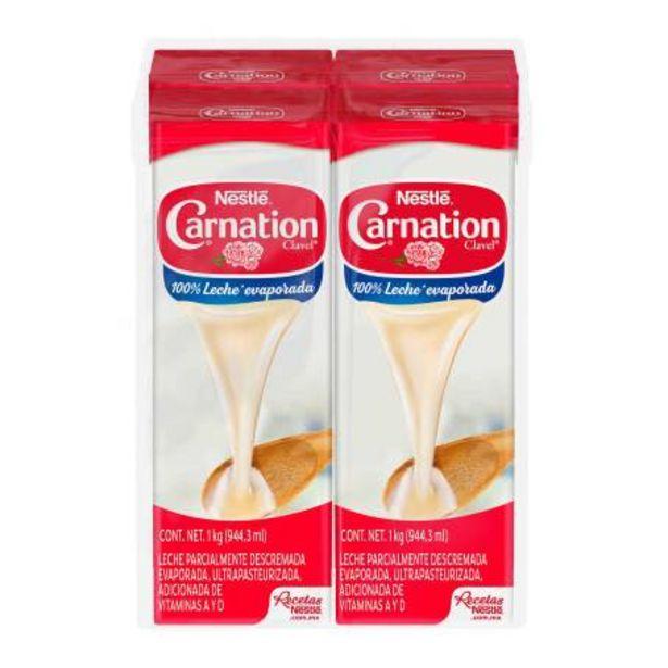 Oferta de Leche Evaporada Carnation Clavel Nestlé 4 pzas de 1 l por $157.54
