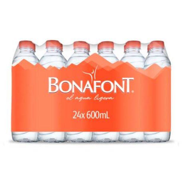 Oferta de Agua Bonafont 24 pzas 600 ml por $121.73
