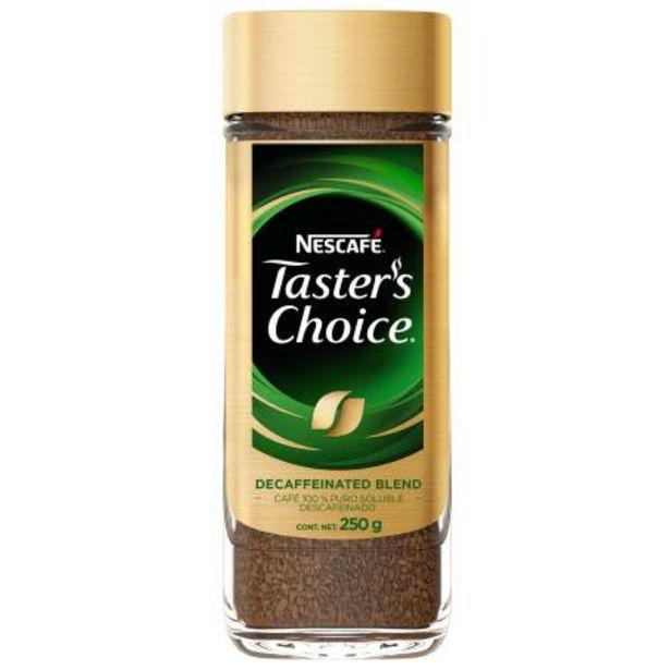 Oferta de Café Soluble Taster's Choice Nescafé Descafeinado 250 g por $258.81