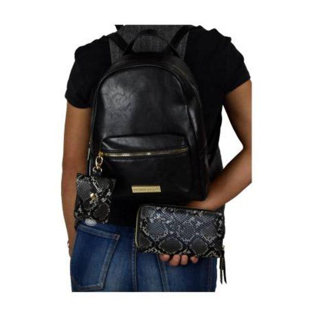 Oferta de Backpack Perry Ellis con Cartera y Charm para Gel Antibacterial por $817.38