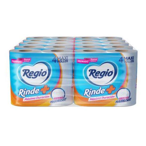 Oferta de Papel Higiénico Regio Rinde Más 10 Paquetes con 4 Rollos c/u por $172.89