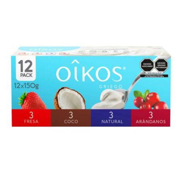 Oferta de Yogurt Oikos Estilo Griego 12 piezas de 150 gr c/u por $131.96