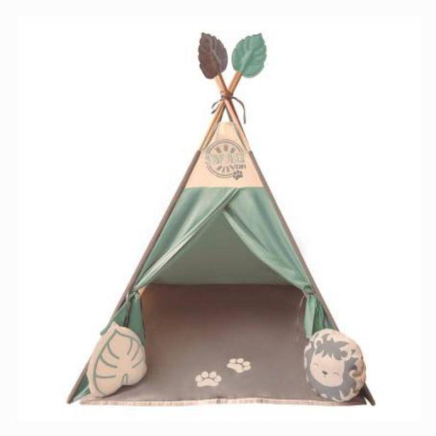 Oferta de Teepee de Tela Kaqoo Verde por $817.38