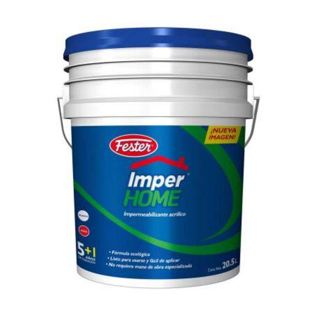 Oferta de Impermeabilizante Acrílico Fester ImperHome Blanco 20.5 l por $1298.19