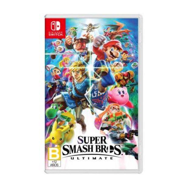 Oferta de Super Smash Bros. Ultimate Nintendo Switch por $1124.28