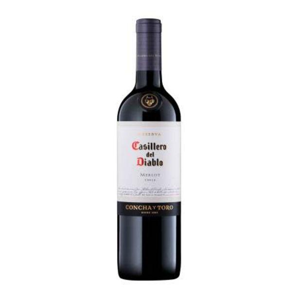 Oferta de Vino Tinto Casillero del Diablo Merlot 750 ml por $198.44