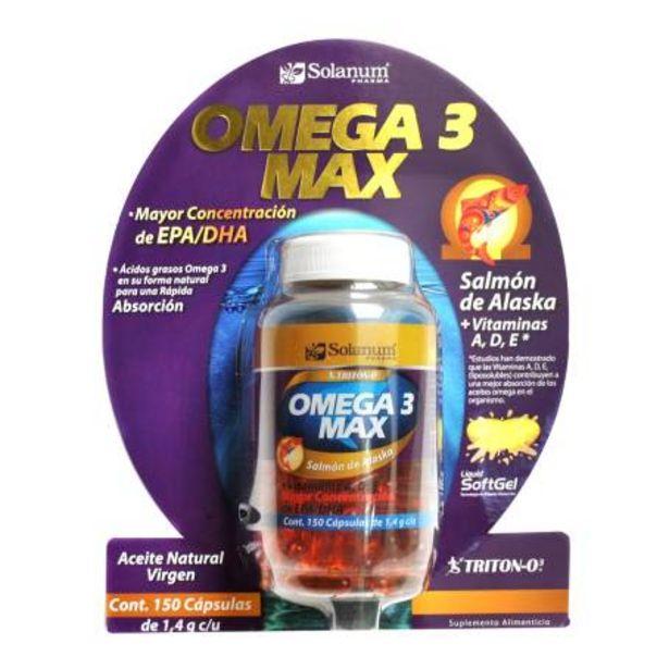 Oferta de Omega 3 Max Solanum Pharma Triton-O3 150 Cápsulas por $264.96