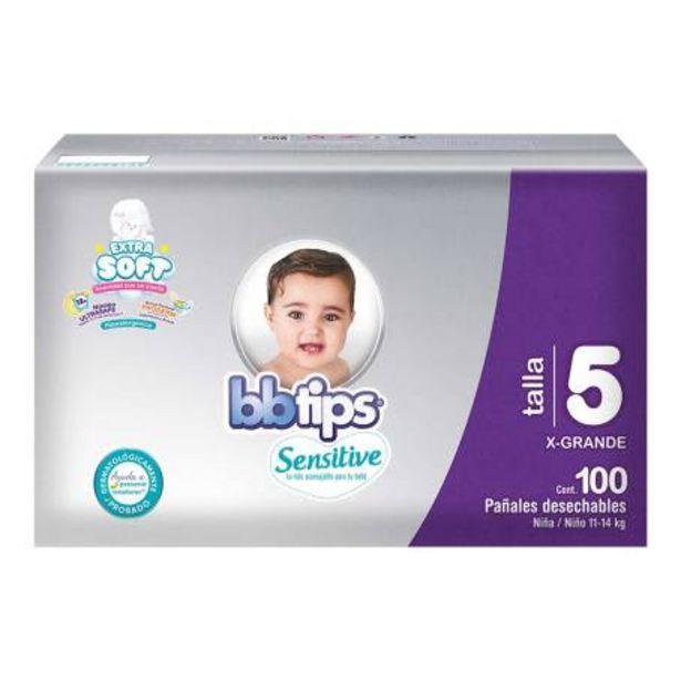 Oferta de Pañales Etapa 5 BB Tips 100 pzas por $375.42