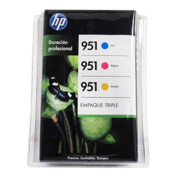 Oferta de Cartucho de Tinta HP CR320BL Colores 3 pzas J3P11BL por $1605.07
